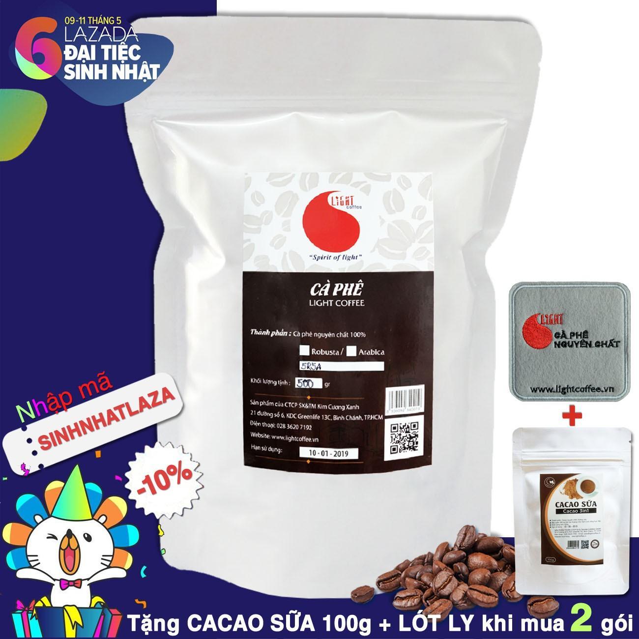 Bán Cafe Hạt Rang Nguyen Chất 100 Phối Chuẩn Light Coffee 500Gr Nguyên