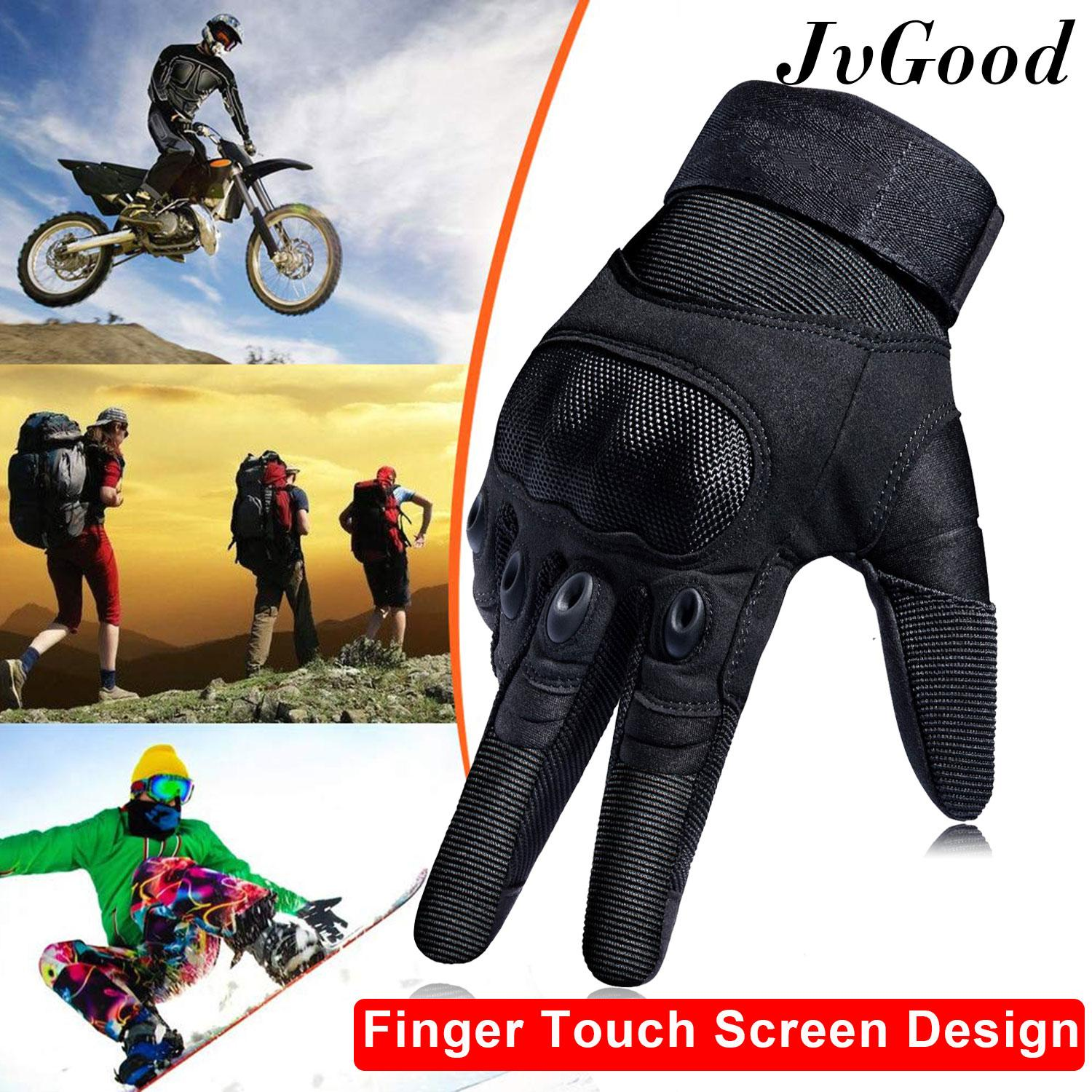 Jvgood ถุงมือเต็มนิ้ว ถุงมือหนัง เรโทร ถุงมือทหาร ถุงมือยิงปืน กันกระแทก Tactical Riding Gloves Men Motorcycle Cycling Gloves Military Outdoor Gloves For Hiking Camping Powersports Airsoft Paintball Full Finger Gloves By Jvgood.