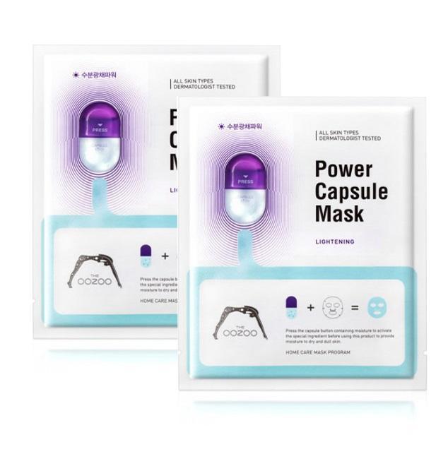 Giá Bán Combo 2 Mặt Nạ Sieu Dưỡng Chất Cấp Nước Dưỡng Trắng Sang Da The Oozoo Power Capsule Mask Lightening 20Ml X2 Trong Hồ Chí Minh