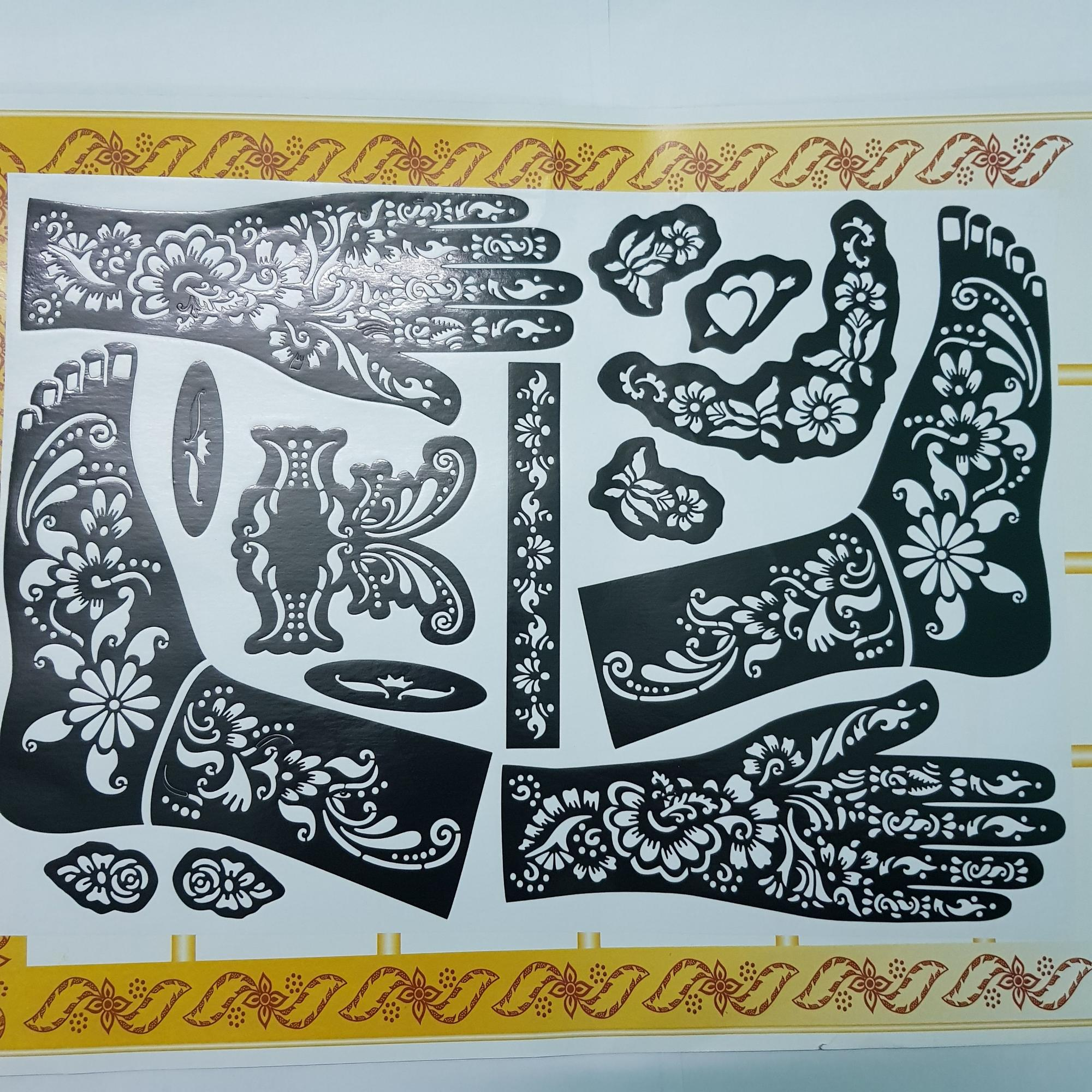 Set khuôn vẽ Henna