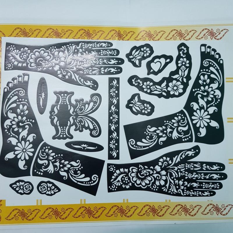 Set khuôn vẽ Henna nhập khẩu