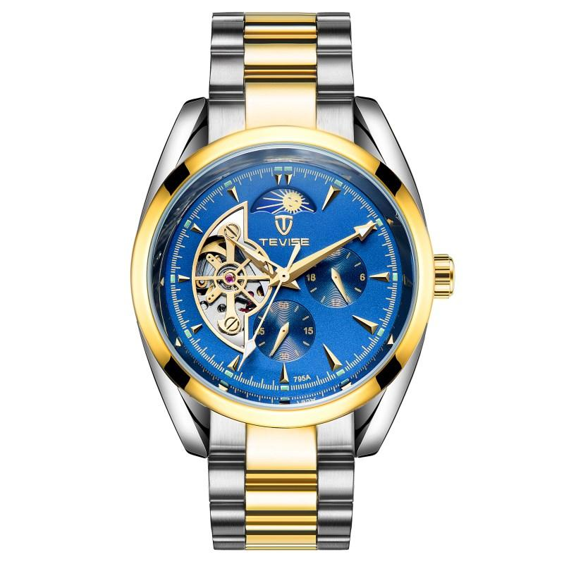 Produk Asli Swiss Tourbillon Jam tangan mekanik Jam tangan pria Sepenuhnya  Otomatis berongga murid Jam Tangan ef2135fbc1