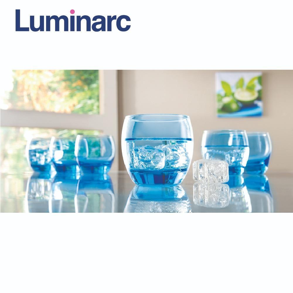 Mã Khuyến Mại Bộ 6 Ly Thủy Tinh Thấp Luminarc Salto Ice Blue 320Ml J1584 Rẻ