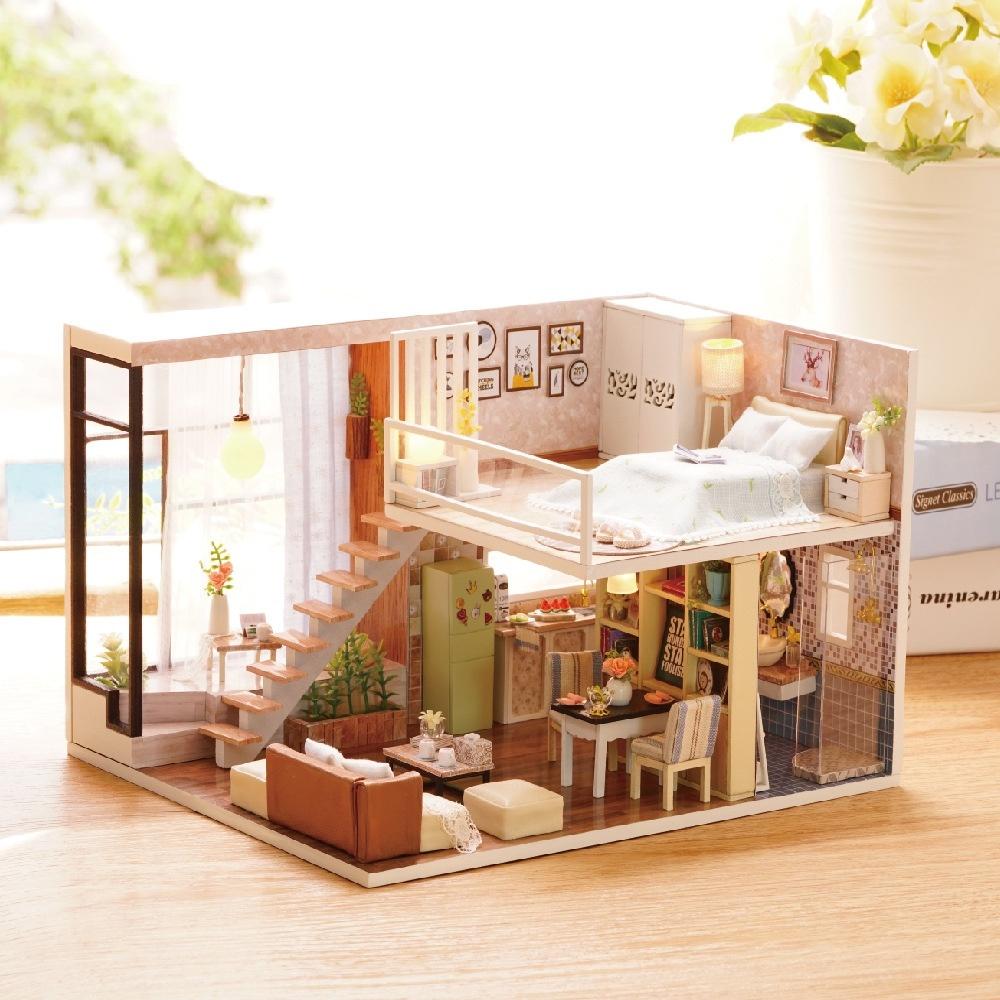 Mô hình gỗ tự lắp ráp DIY Penthouse 10