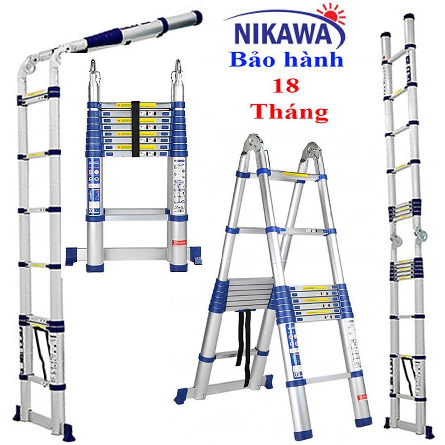Thang nhôm rút đôi NIKAWA 50AI Nhật Bản - 5,0m công nghệ Nhật Bản