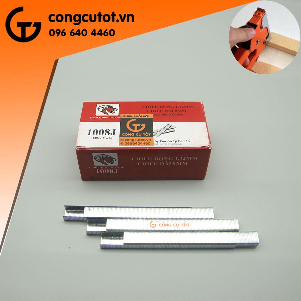 Hình ảnh Ghim bấm gỗ Cao Sơn J1008 hộp 5000 ghim