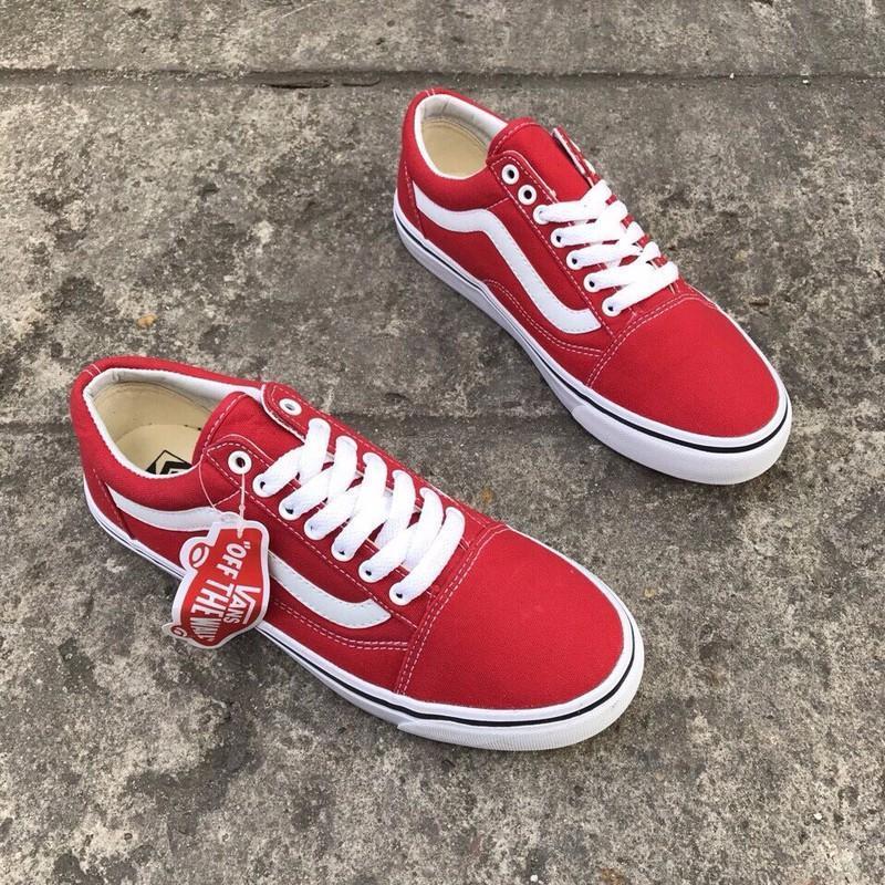 Giày Vans thể thao đỏ dành cho nữ