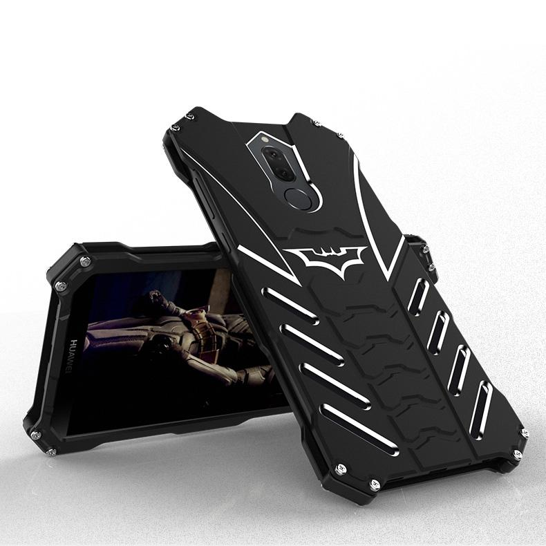 SHUNJIA Bat Style Nova 2i Casing Premium Aluminum Metal Bumper Frame Shockproof Case for Nova 2i / Mate 10 Lite