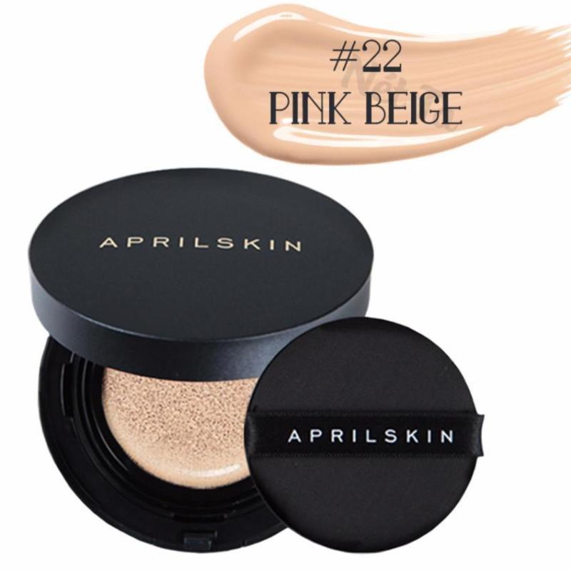 Phấn nước April Skin Magic Snow Cushion 2.0 SPF50+ PA+++ 15g màu 22 Pink Beige - Da sáng hồng