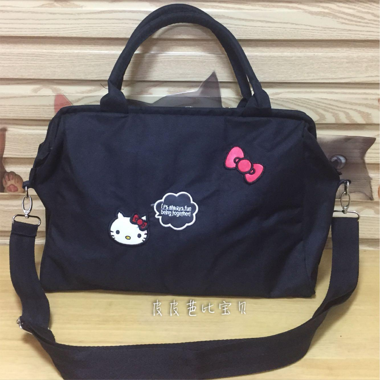 5a5fc4b3fa5d Hello Kitty Cute Cartoon Hand Shoulder Women s Bag Luggage Bag Short Trip  Business Trip Travel Bag