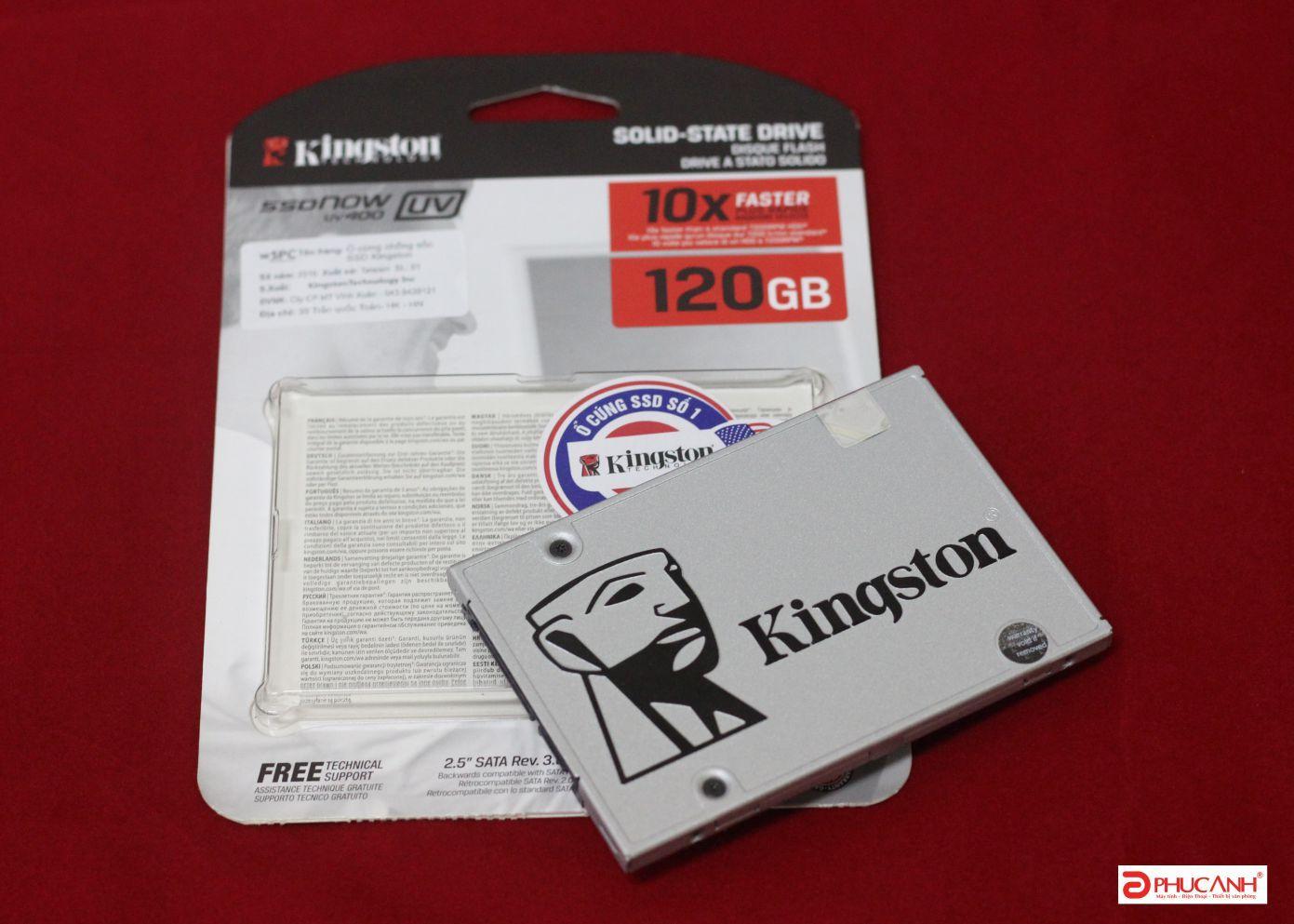 Hình ảnh Ổ cứng SSD 120GB Kingston Bạc, full box