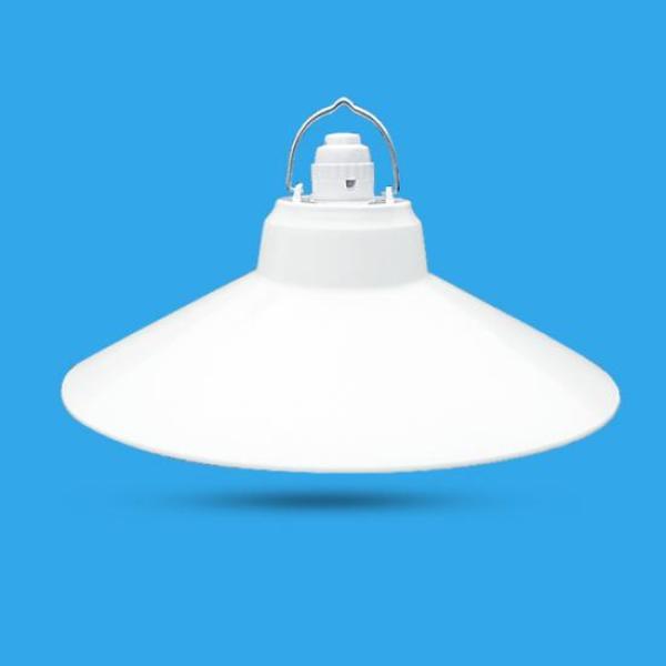 Bộ Chao đèn Chóa đèn nhựa trắng ngoài trời 25cm và đui E27 Kín nước