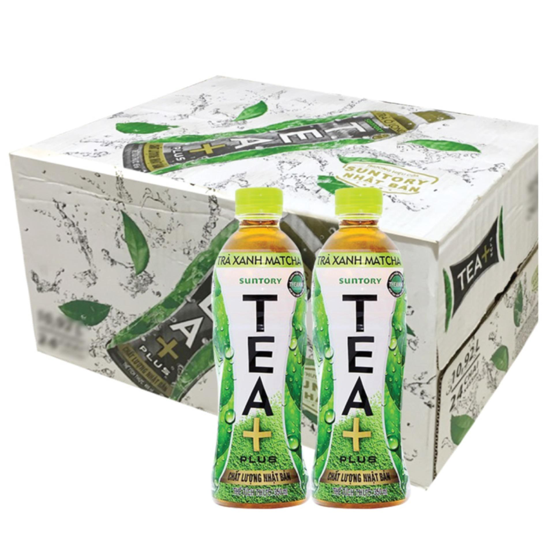 Hình ảnh Trà Matcha Tea Plus Pepsico thùng 24 chai x 350ml