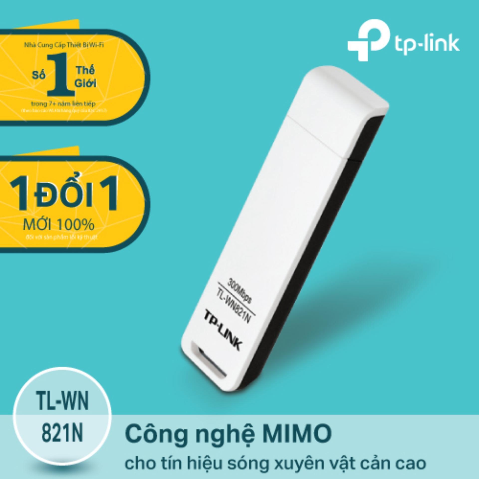 Bán Tp Link Tl Wn821N Usb Kết Nối Wi Fi Chuẩn N 300Mbps Hang Phan Phối Chinh Thức Rẻ