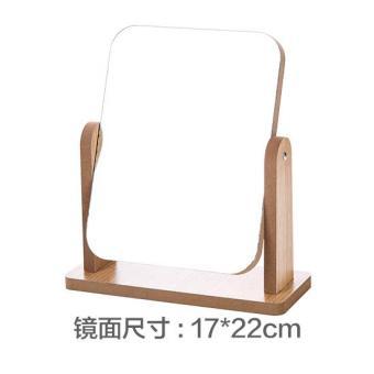 Penjualan Jujiajia Bahan Kayu berputar cermin rias permukaan meja ukuran besar/L Cermin Rias desktop Dandan Cermin Kecil asrama Cermin putri terbaik murah ...