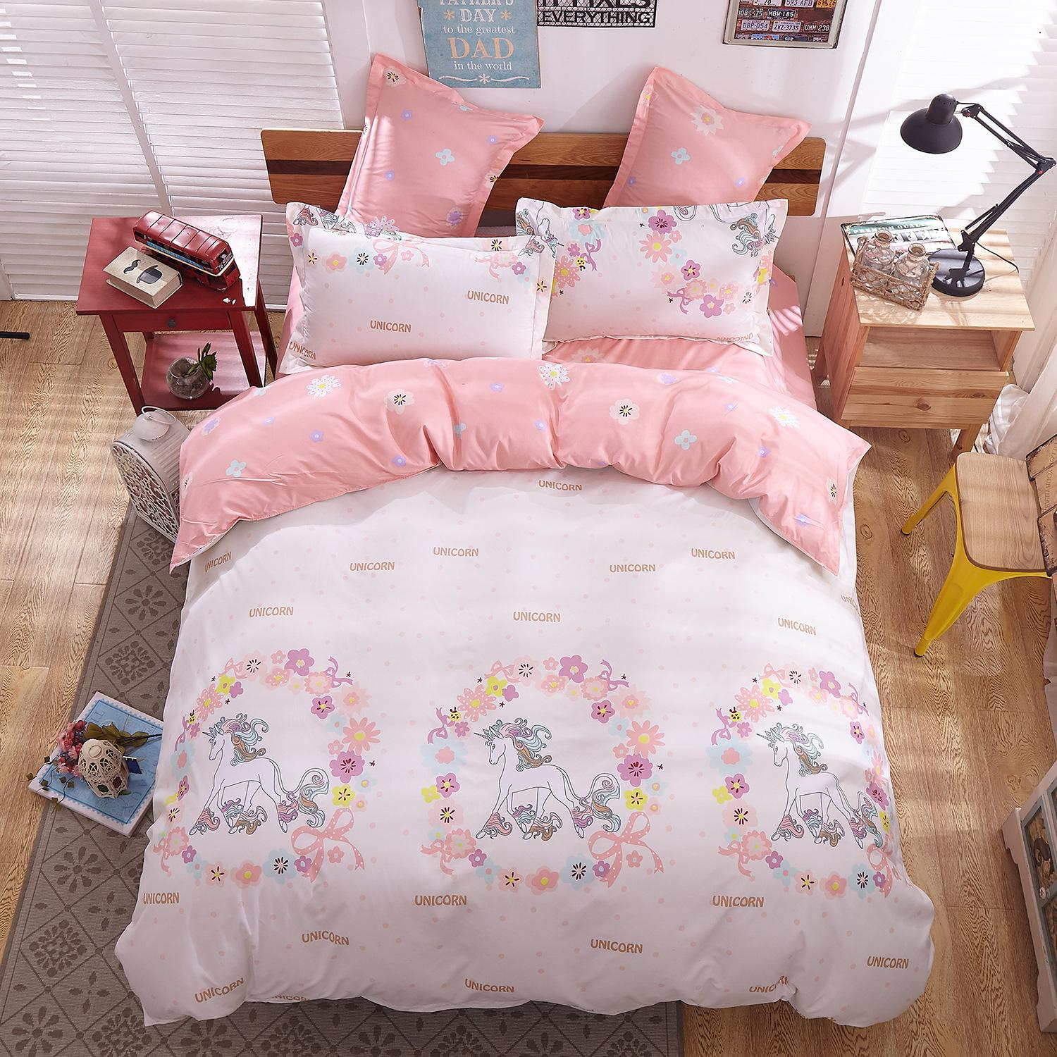 PINSV Bedlinens High Quality Cotton Fabric Queen/King Size Cover Set  Bedding Set   Intl