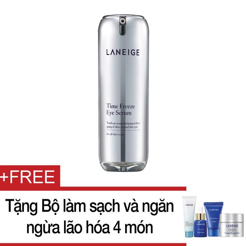 Hình ảnh Tinh chất ngăn ngừa lão hóa vùng mắt Laneige Time Freeze Eye Serum 20ml + Tặng bộ làm sạch và ngăn ngừa lão hóa Laneige 4 món
