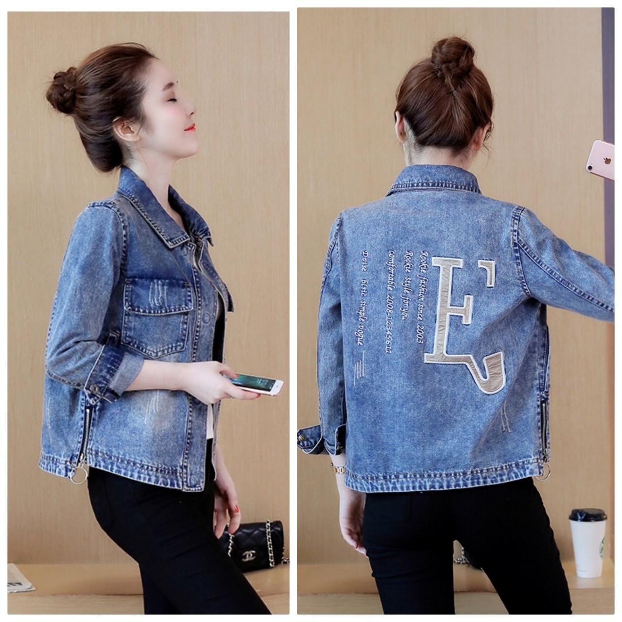 Chiết Khấu Ao Khoac Jeans Theu Kim Sachữ E By1054 Beyeu1688 Hồ Chí Minh