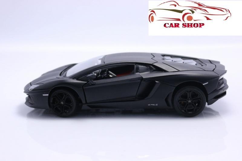 Hình ảnh Mô hình oto siêu xe 1/24 Lamborgini-Aventador Welly Đen