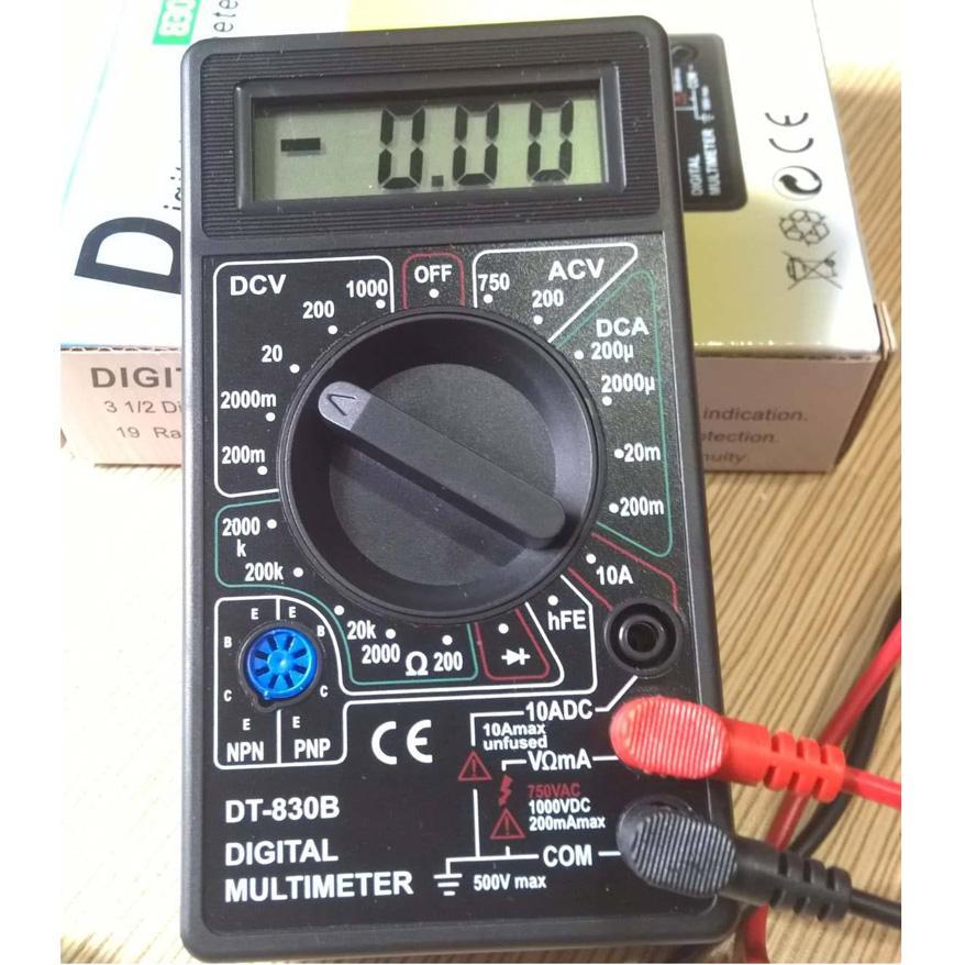 Đồng hồ đo điện đa năng màn hình LCD 830 Series tặng pin 9V