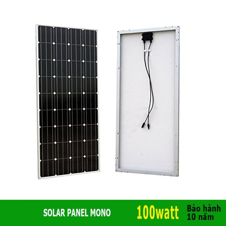 Tấm pin năng lượng mặt trời 100W Mono Cells Đức hiệu suất cao - pin mat troi (tam thu mat troi)