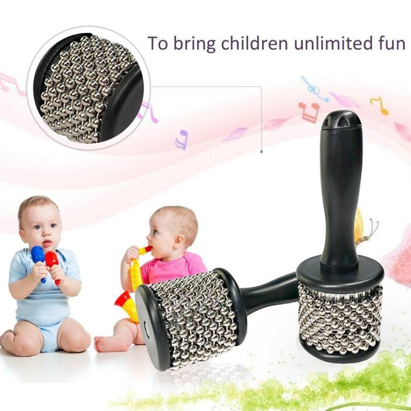 UINN Orffworld Cabasa with Stainless Steel Beaded Musical Instruments for Kids silver & black