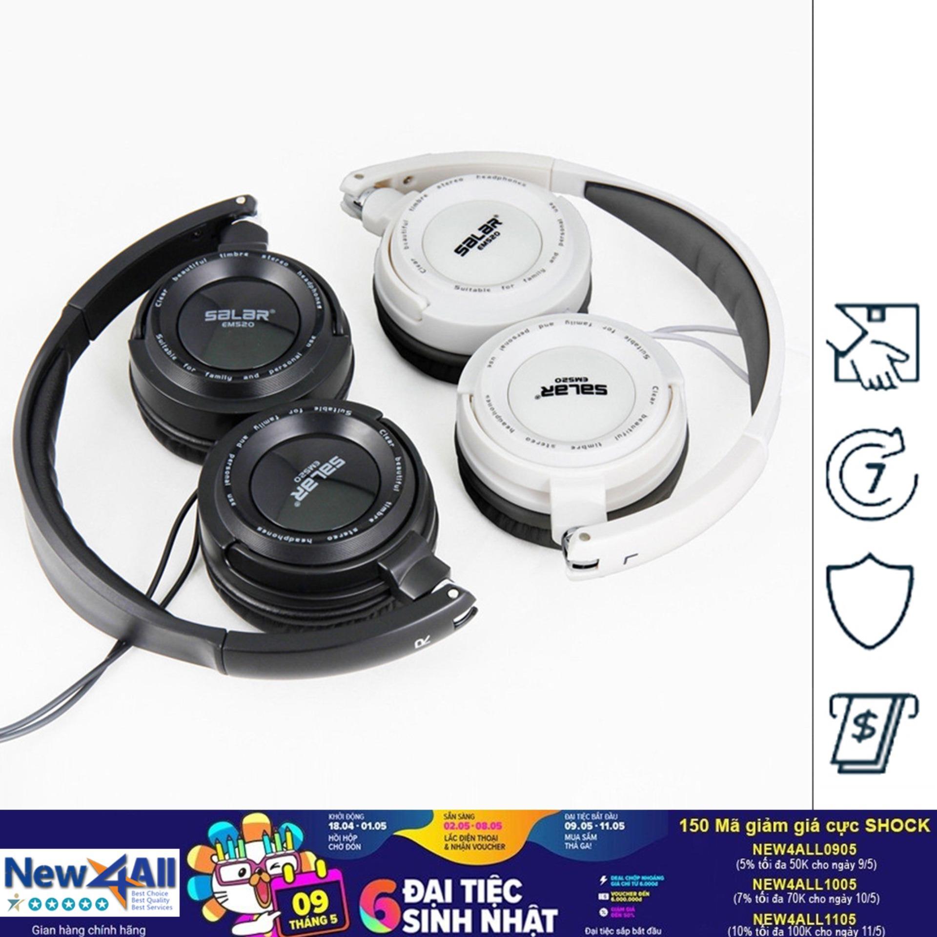 Giá Bán Tai Nghe Over Ear Salar Em520 Gaming Headphone Trắng Đen Trực Tuyến