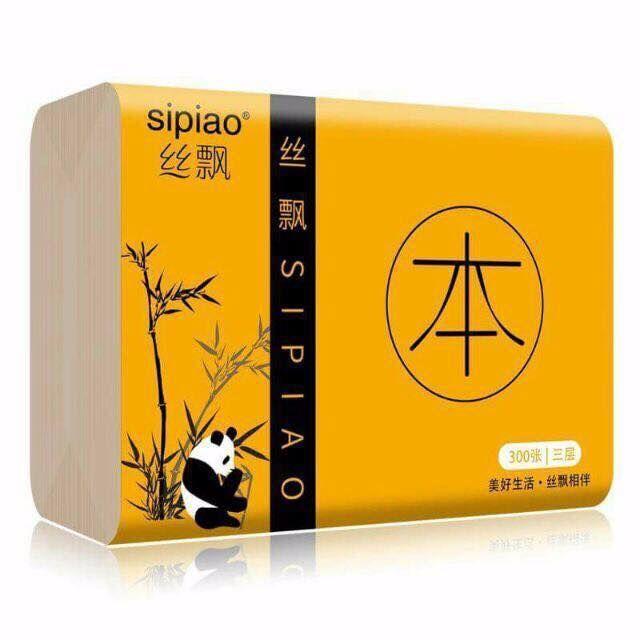 Hình ảnh Giấy ăn gấu trúc Sipiao ( 1 gói 300 tờ)