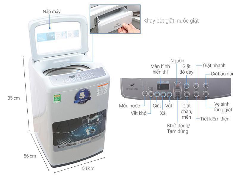 Bảng giá Máy giặt 7.2 Kg Samsung WA72H4000SG/SV đứng Điện máy Pico