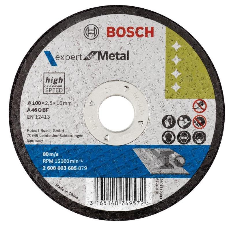Đá cắt tốc độ cao 100x2.5mm (sắt), 2608603685, Bosch