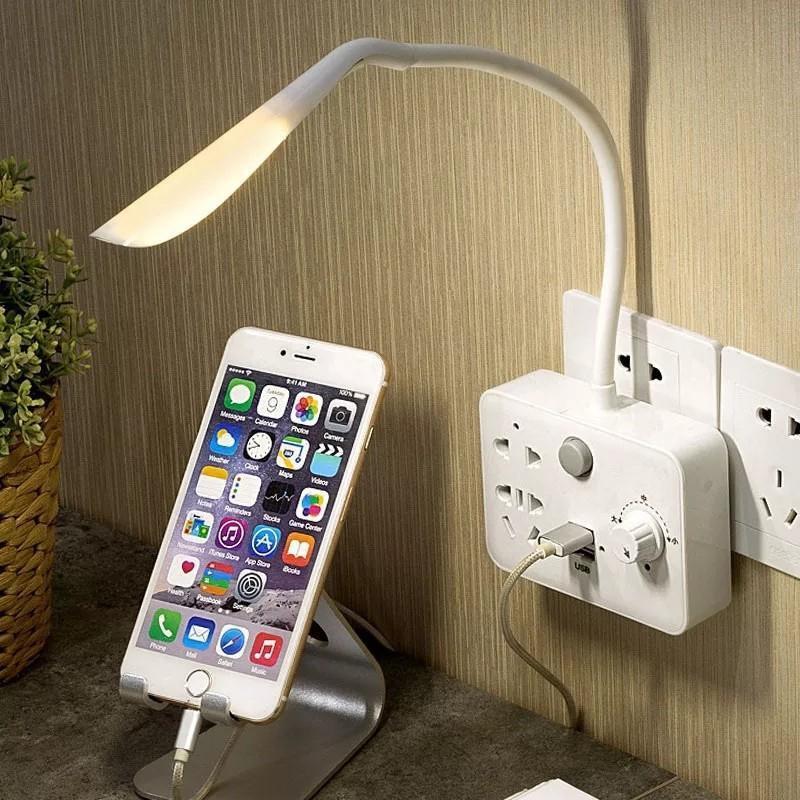 Ổ cắm điện có đèn ngủ led, có sạc pin - Hàng cao cấp xuất khẩu Châu Âu