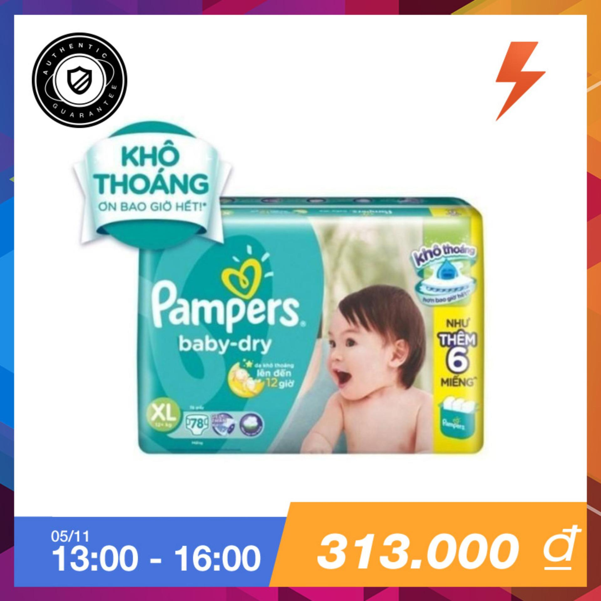 Mua Ta Dan Pampers Size Xl 78 Miếng Tren 12 Kg Pampers Rẻ