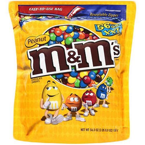 Chocolate M&M nhân đậu phộng 1750gr của Mỹ