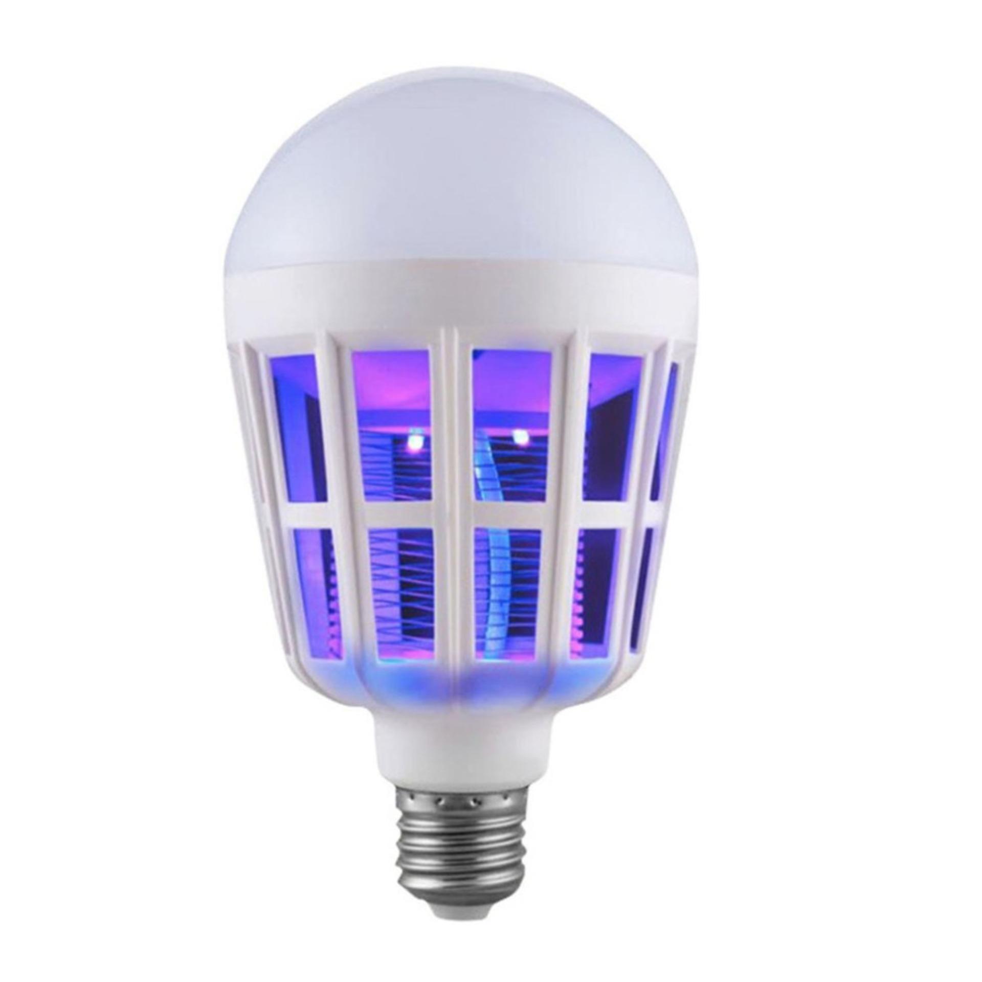 Hình ảnh Bóng đèn led chiếu sáng kiêm đèn bắt muỗi và côn trùng / đuổi muỗi diệt muỗi