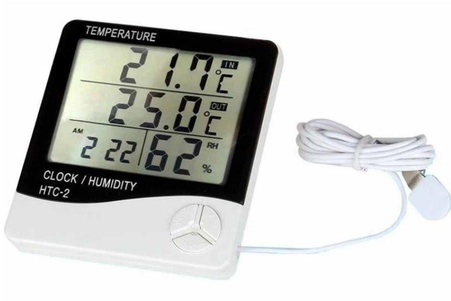Nhiệt ẩm kế điện tử đa chức năng 6 in 1 HTC-2