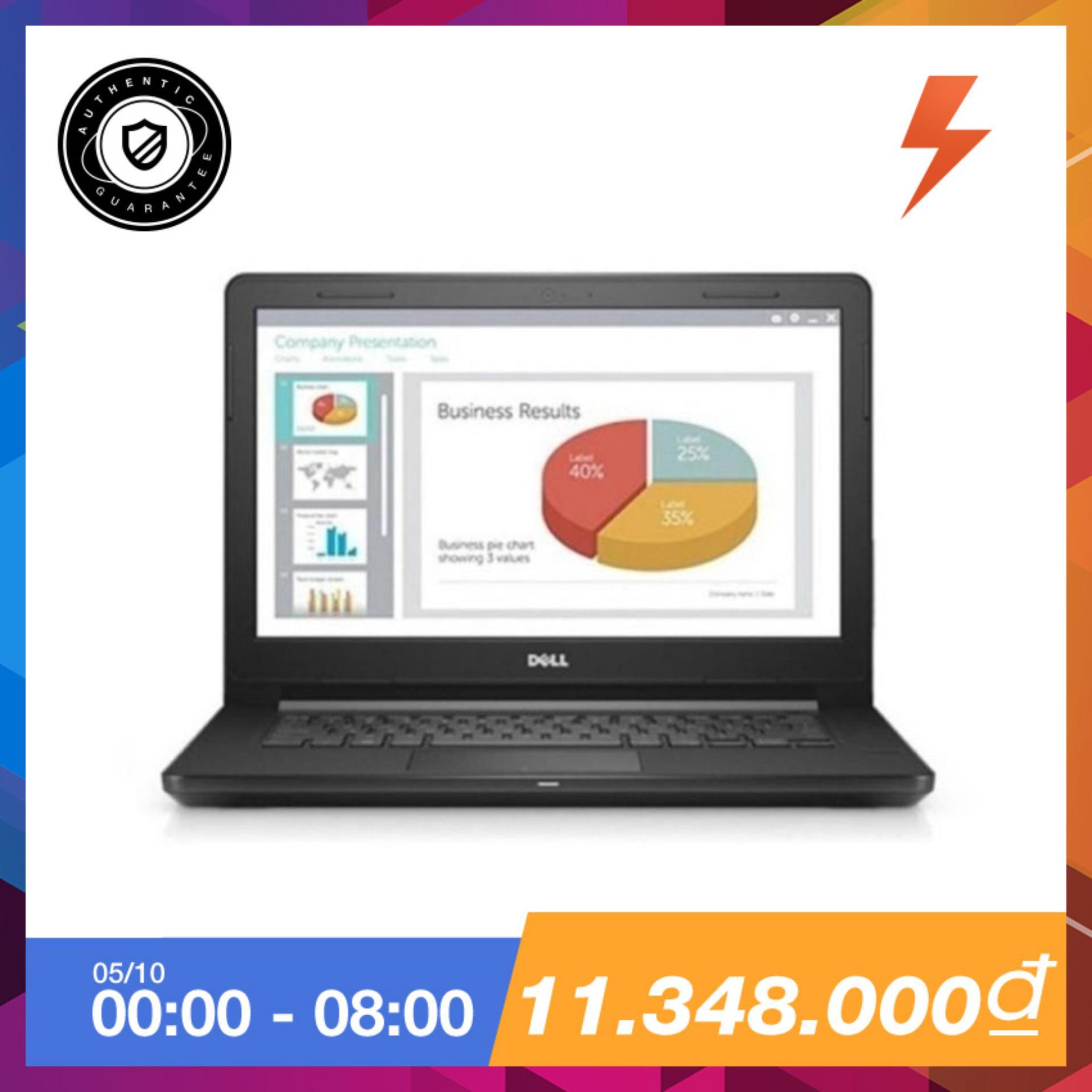 Chiết Khấu Laptop Dell V3468 K5P6W12 Core I5 7200U Ram 4G 500Gb 14 Inch Đen Hang Phan Phối Chinh Thức Dell