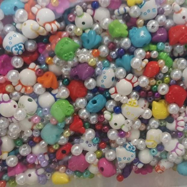 Hình ảnh Bộ 100 charm trang trí Slime - 20gram