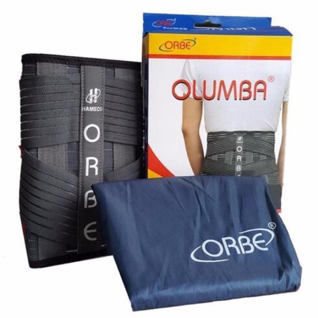 Đai cột sống thắt lưng cao cấp OLUMBA dùng cho người chấn thương cột sống, viêm thoái hoá xương khớp..
