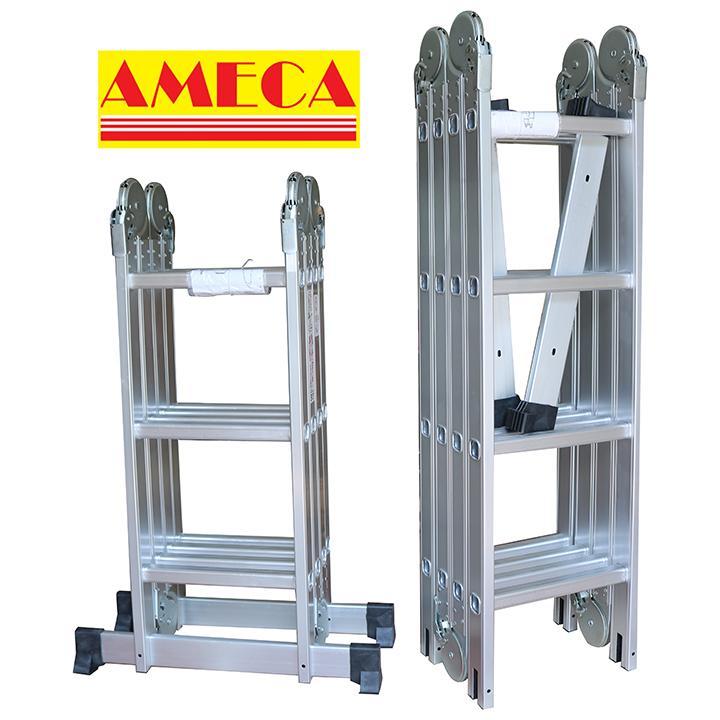 Thang nhôm gấp 4 đoạn AMECA M204 - 4,7m công nghệ USA