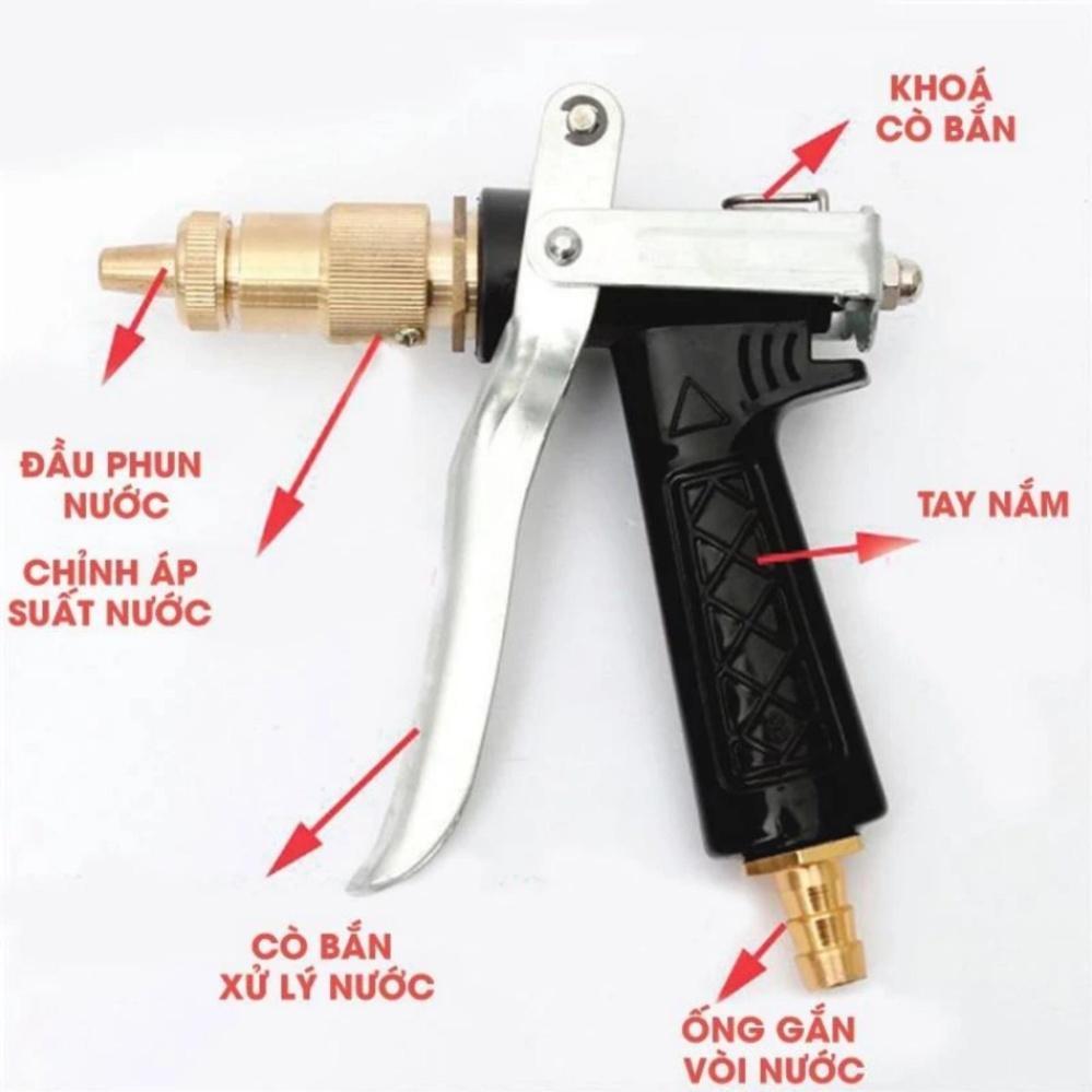 Hình ảnh Vòi xịt rửa tăng áp lực nước chất liệu đồng