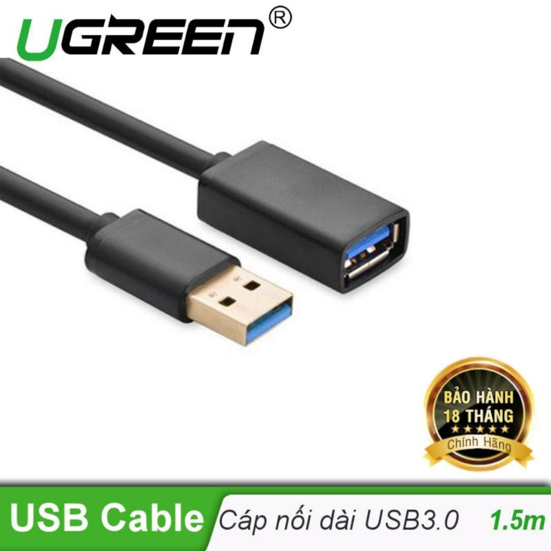 Bảng giá Dây nối dài USB 3.0 mạ vàng dài 1,5M UGREEN US115 30126 (đen) Phong Vũ