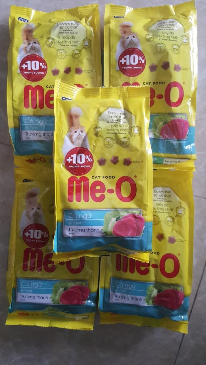 Combo 5 Gói ME-O 350gr - Thức ăn Dạng Hạt Cho Mèo Lớn Vị CÁ NGỪ Giá Tốt Nhất Thị Trường