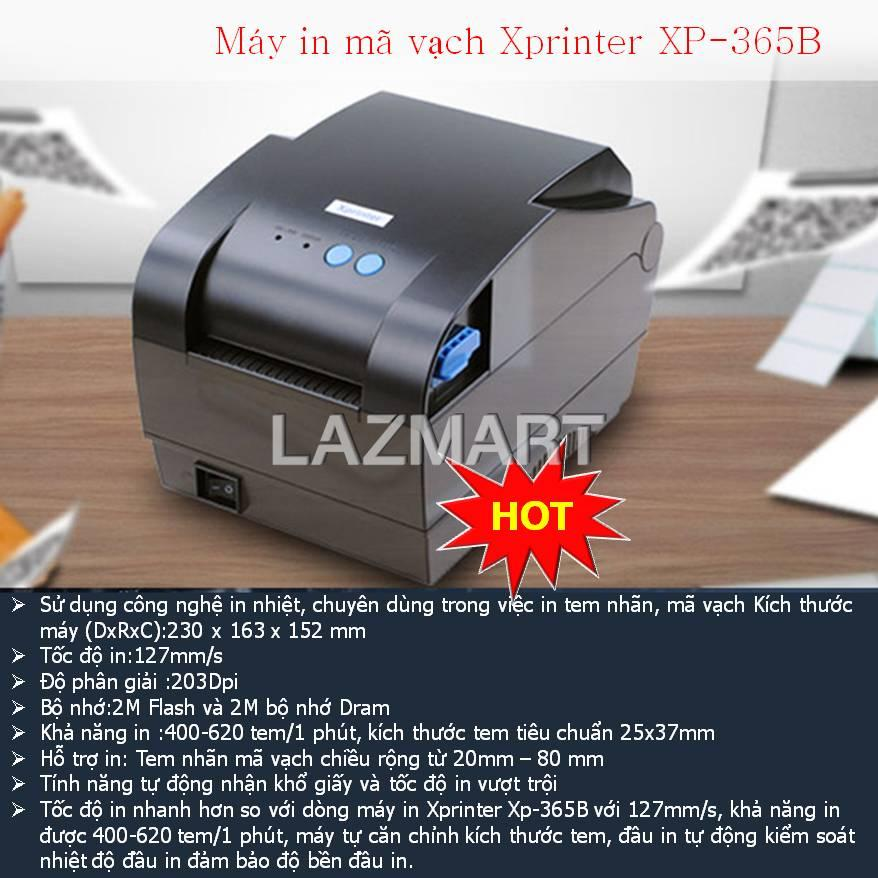 Máy in mã vạch Xprinter XP-365B