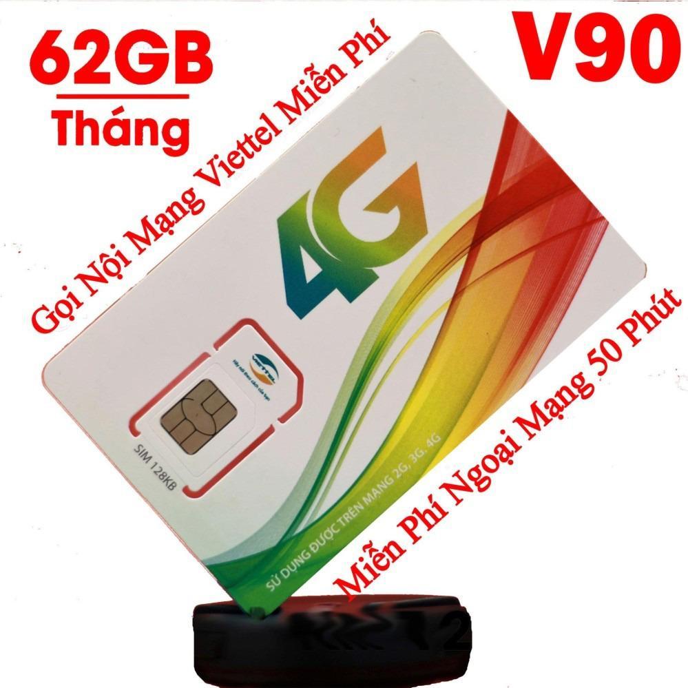 Bán Sim 3G 4G Viettel V90 Km 60Gb Thang Gọi Miễn Phi Rẻ Nhất