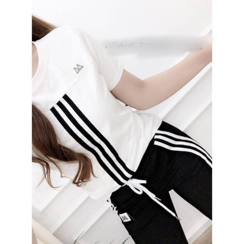 Hình ảnh Bộ quần áo thể thao nữ 3 sọc B819