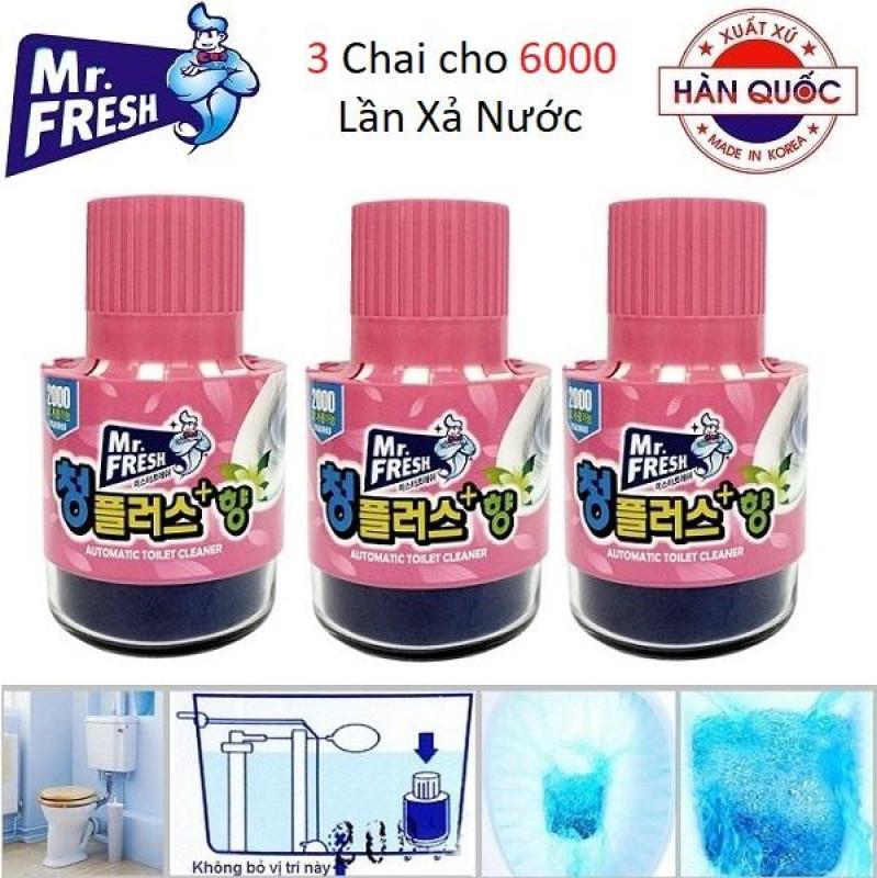 Bộ 3 Cốc thả bồn cầu diệt khuẩn làm thơm Hàn Quốc Mr.Fresh 180g (Hương Hoa Ly) KS418