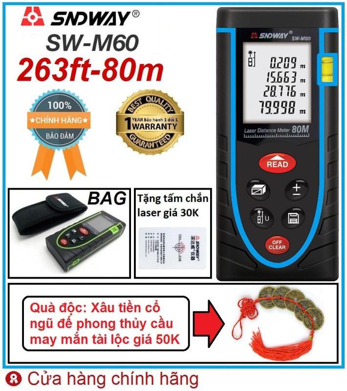 SNDWAY - M80 Thước đo khoảng cách bằng tia laser 80m