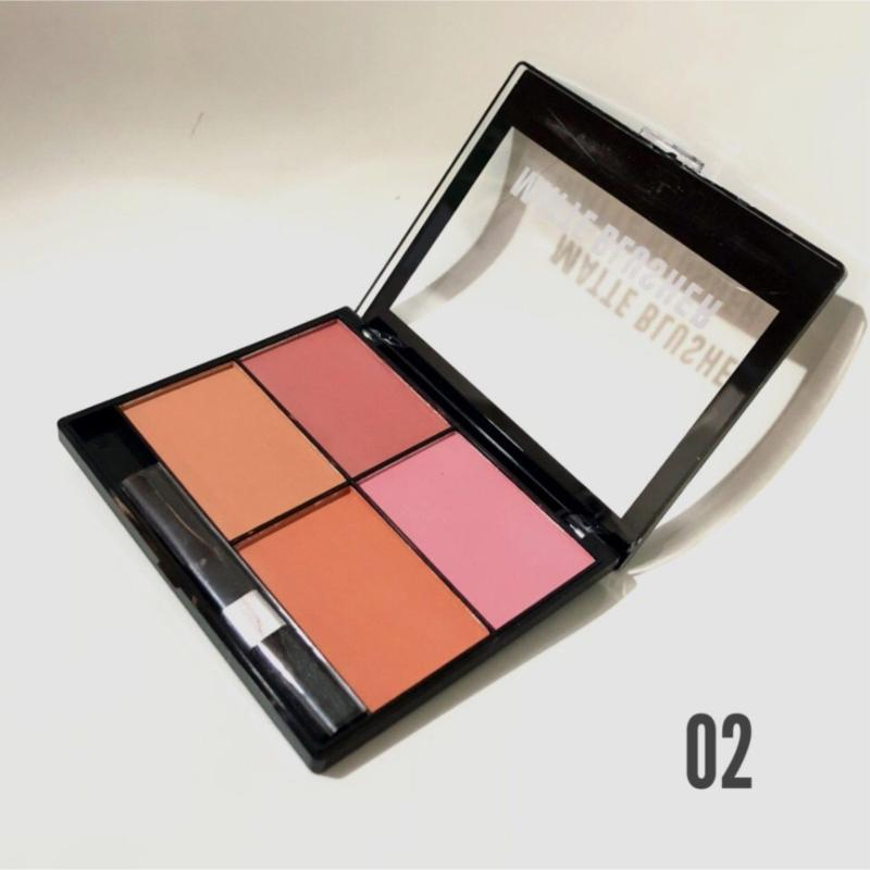 Hộp 4 ô má hồng HUDA Beauty siêu mịn NO.HU-011