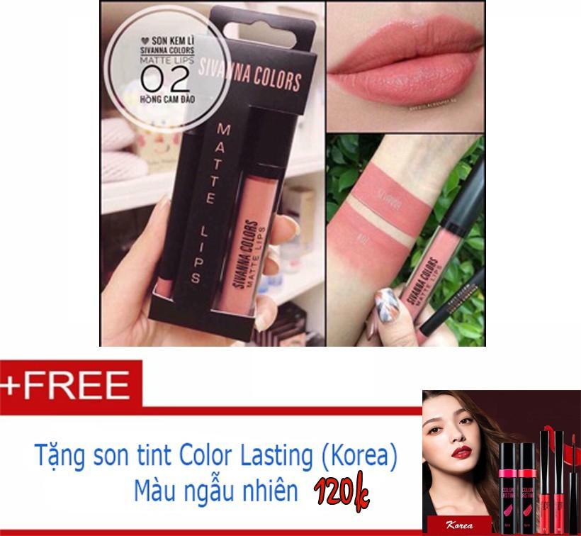 Giá Bán Son Kem Li Sivanna Mau Số 2 Tặng Son Tint Colors Korea 120K Sivanna