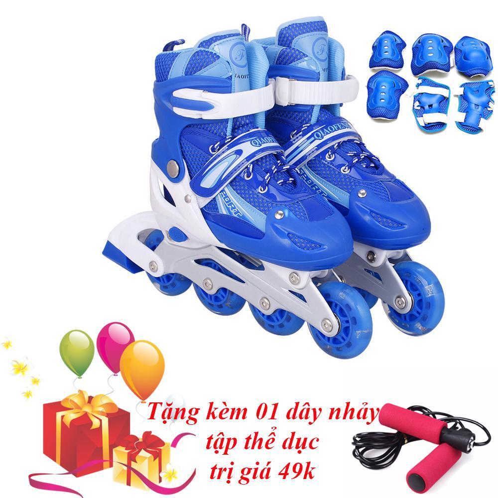 Giày Trượt Patin Cao Cấp (SIZE M) & Đồ Bảo Hộ - VIVA SPORT ( TẶNG 1 DÂY NHẢY )